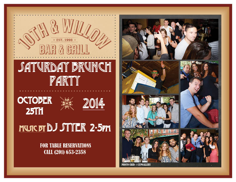 10TH & WILLOW BRUNCH FLYER